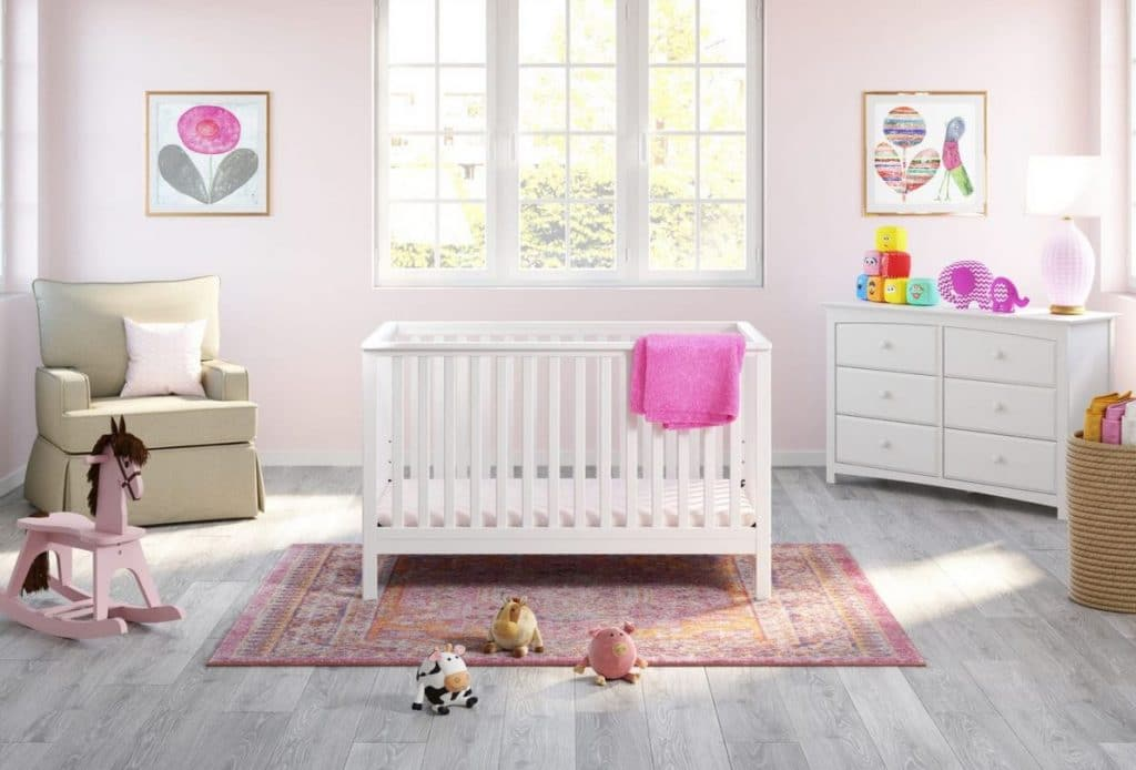 storkcraft hillcrest convertible crib preview photo in room