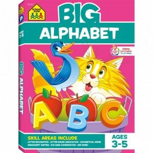 big alphabet workbook by school zone review image cover